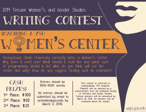 Tessier Writing Contest – Women's and Gender Studies at Youngstown