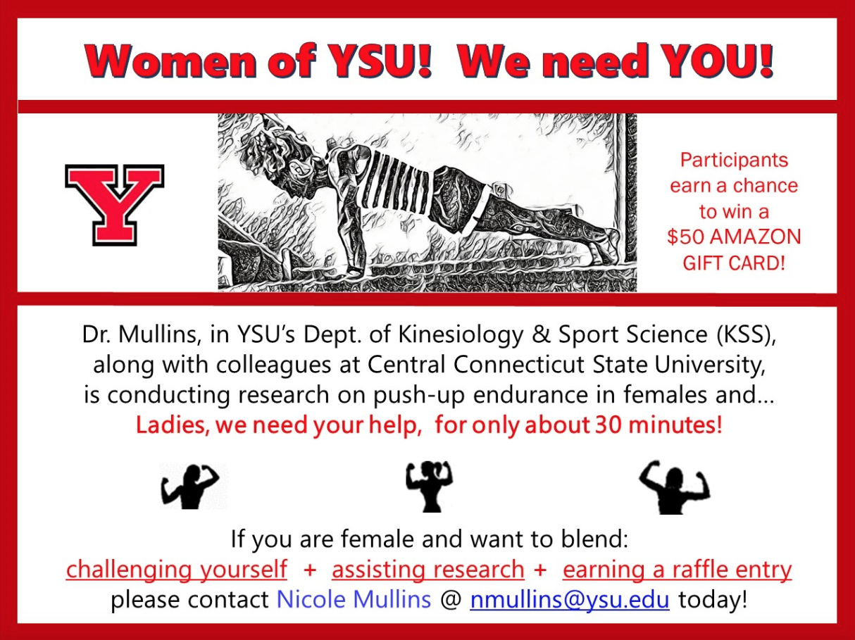 Flyer for Push Up Study